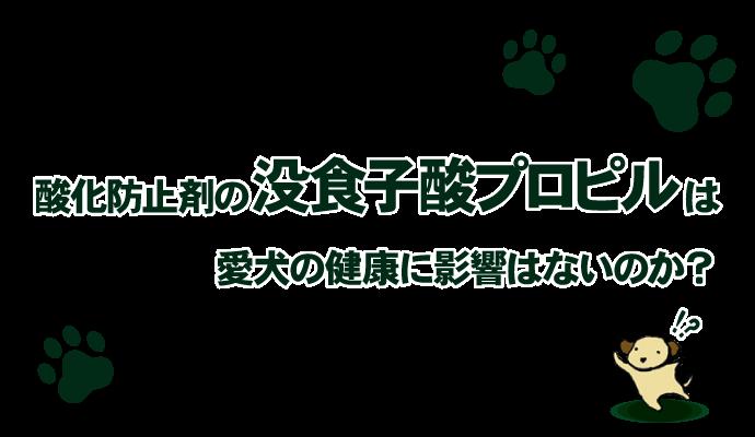 酸化防止剤の没食子酸プロピルは愛犬の健康に影響はないのか?
