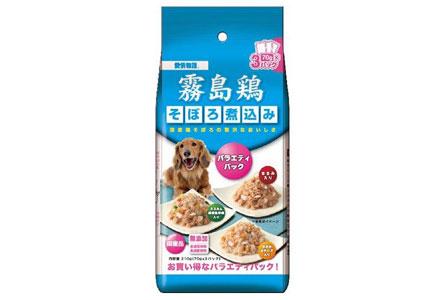 愛情物語 ドッグフード 霧島鶏 バラエティパック そぼろ煮込 210g(70g×3)×4個(まとめ買い)