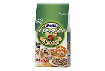 愛犬元気 パックン ビーフ・緑黄色野菜・小魚・チーズ入り 2.5kg
