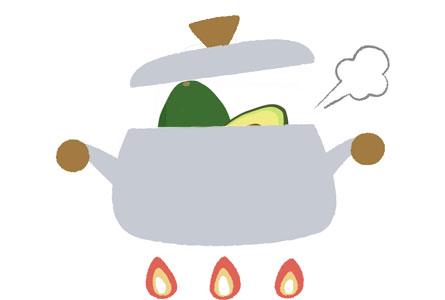 アボカドは加熱したら食べられる?