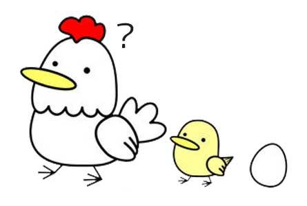 鶏の親子のイラスト